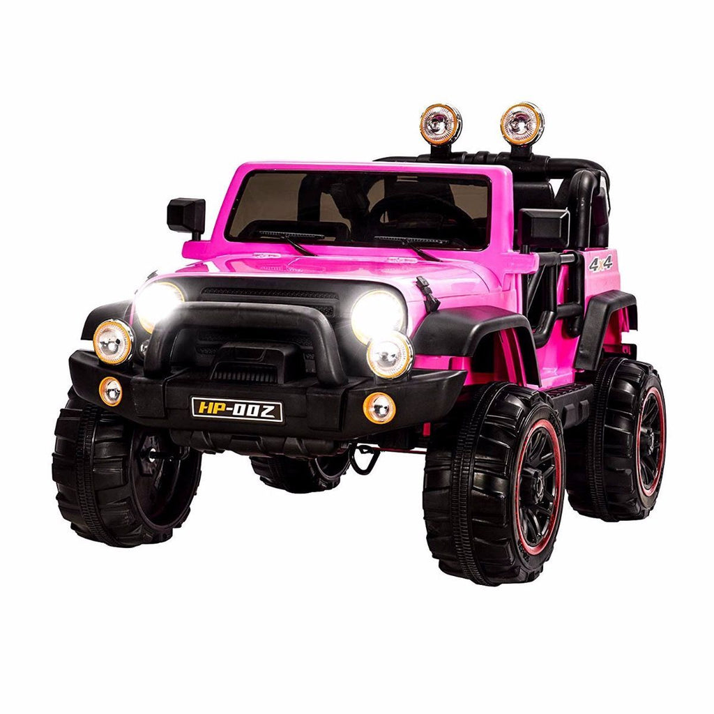 12V Recon Edition Battery Operated Children's Electric Ride On Jeep - Pink - EpicStuff