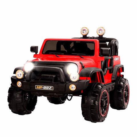 12V Recon Edition Battery Operated Children's Electric Ride On Jeep - Red - EpicStuff
