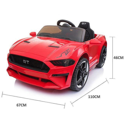 12V Ford Mustang GT Style Ride on Sports Car With EVA Tyres- Red - EpicStuff