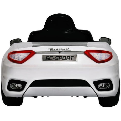 Licensed 12V Maserati GranCabrio Sport Kids Electric Ride On Toy Car - White - EpicStuff