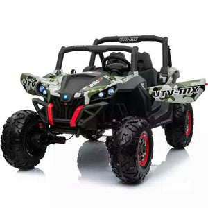UTV MX 2000 24V* TWIN SEAT KIDS 4WD BUGGY - EVA WHEELS - CAMO - EpicStuff
