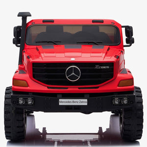 Licensed Mercedes-Benz Zetros Unimog 2 Seater 12V Ride-on Truck - Red - EpicStuff