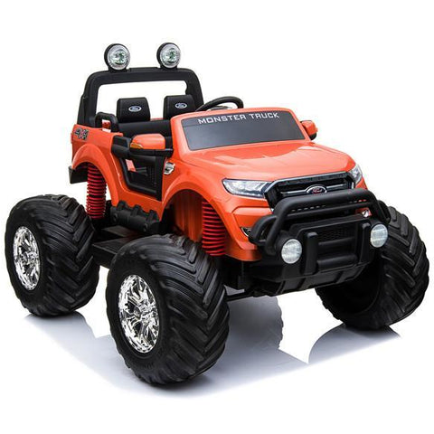 LICENSED FORD RANGER 4WD 24V* KIDS MONSTER TRUCK RIDE ON WITH EVA - ORANGE - EpicStuff