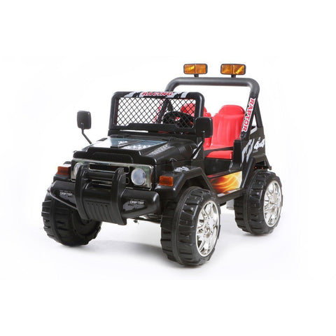 Battery Powered - 12V 2 Seater 4x4 Truck  - Black - EpicStuff
