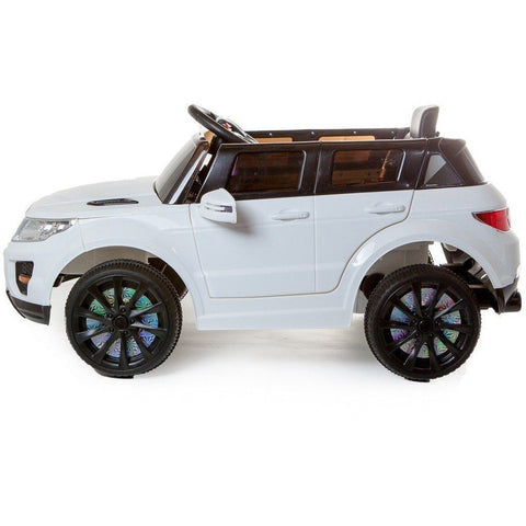 12V Evoque Style Battery Ride On Car - White - EpicStuff