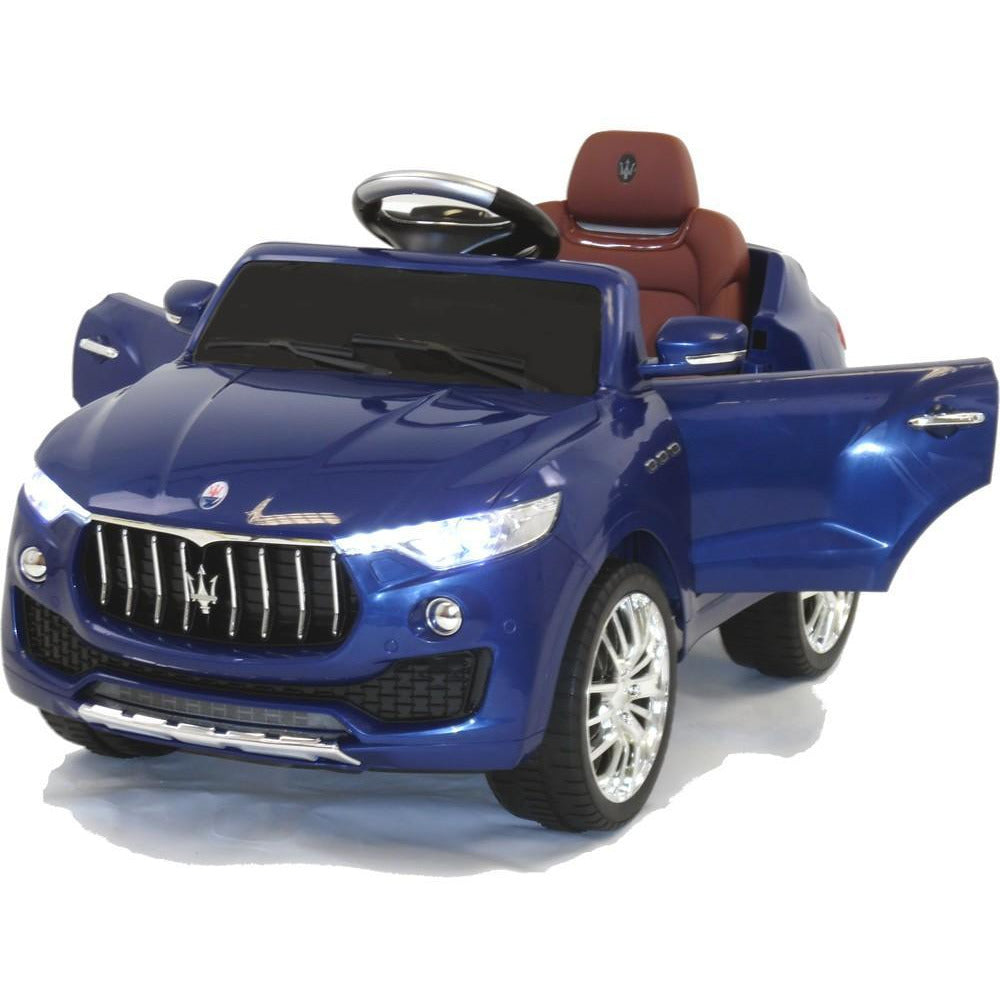 Licensed Maserati Levante 6v Electric Kids Ride on Car with Remote Control - Blue - EpicStuff