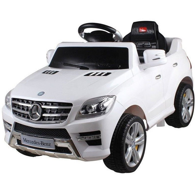 Licensed Mercedes ML350 6V Electric Ride on Kids Car with Remote - White - EpicStuff