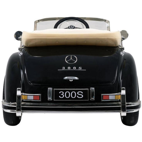 Licensed 12V Mercedes Benz 300S 4x4 Kids Electric Ride On Car with Remote Control - Black - EpicStuff