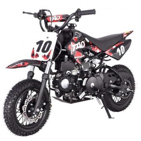 "DB10 TAO USA KIDS 110CC Motocross Dirt Bike - Red 10"" - EpicStuff"