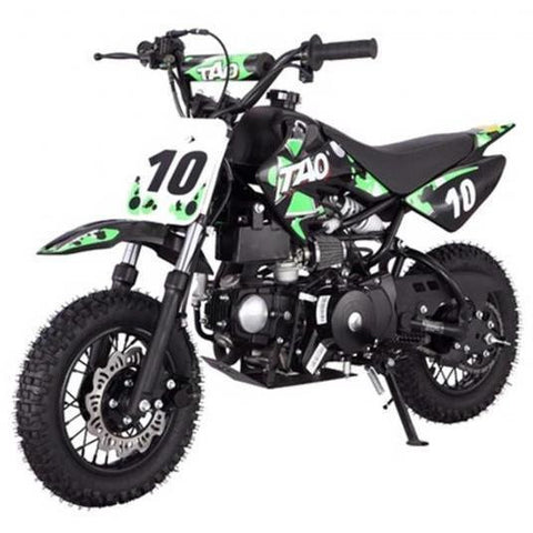 "DB10 TAO USA KIDS 110CC Motocross Dirt Bike - Green 10"" - EpicStuff"