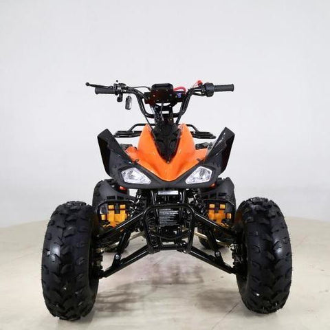 "Cheetah 125cc Quad Bike 8"" Fat Boi Tyres - Orange - EpicStuff"