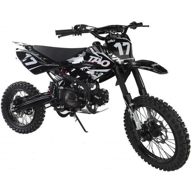 DB17 TAO USA Motocross Dirt Bike 125cc - Black/White 14/17 - EpicStuff