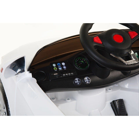 SL Roadster - 12V Kids' Electric Ride On Car  - White - EpicStuff