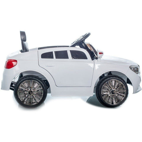 C Class Saloon - 12V Kids' Electric Ride On Car - White - EpicStuff