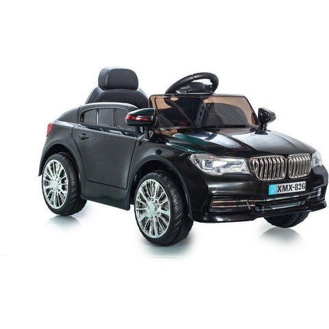 X5 Saloon - 12V Kids' Electric Ride On Car - Black - EpicStuff