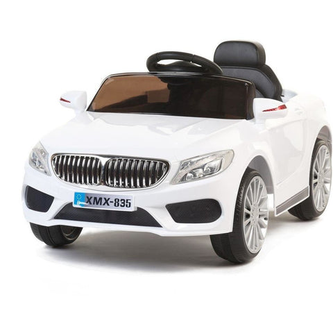 12V 535 Saloon - Electric Kids Ride On Car - White - EpicStuff