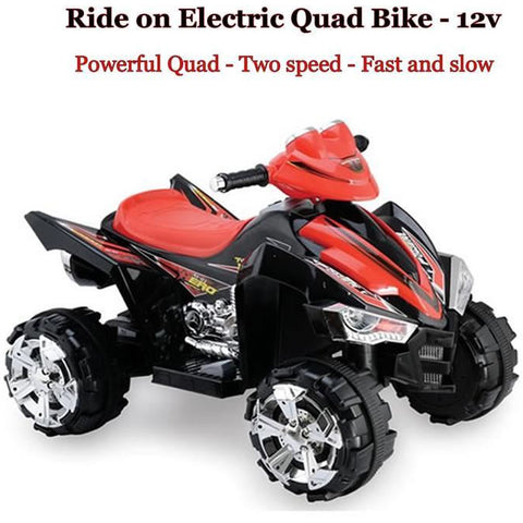 Predatour 12v Electric Battery Powered Kids Quad - Black - EpicStuff