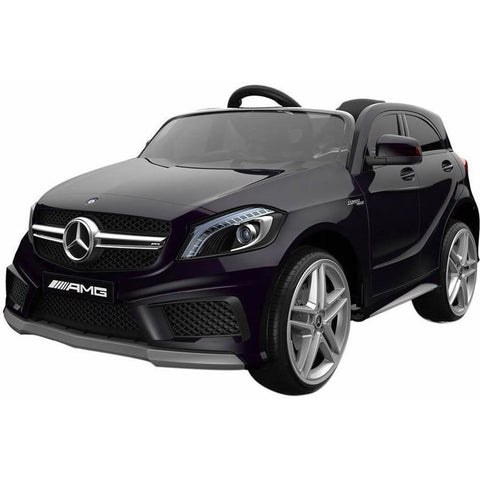Licensed Mercedes A45 Sports 12v Kids Electric Ride on Car with Remote - Black - EpicStuff