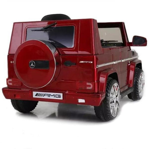 12V Mercedes-Benz G65 Licensed Twin Motor Electric Ride on Toy Car - RED - EpicStuff