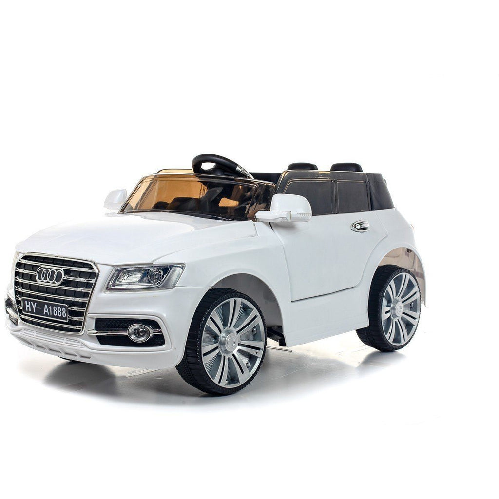 12V Q7 Style Kids Ride On Car - White - EpicStuff