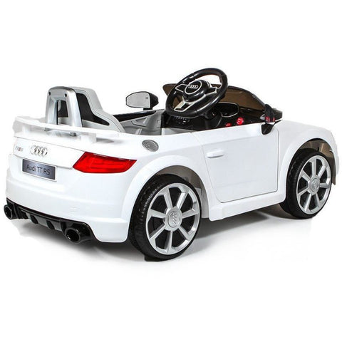 12V Licensed Audi TT RS Kids Ride On Car - White - EpicStuff