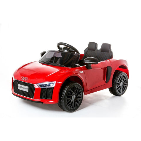 12V Licensed Audi R8 Spyder Battery Ride On Car - Red - EpicStuff