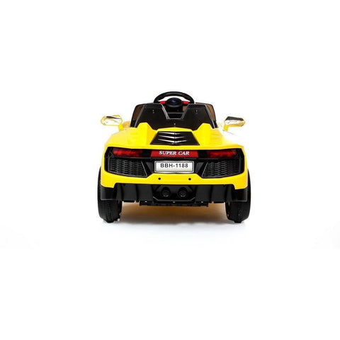 12V Roadster Kids Battery Ride On Car - Yellow - EpicStuff