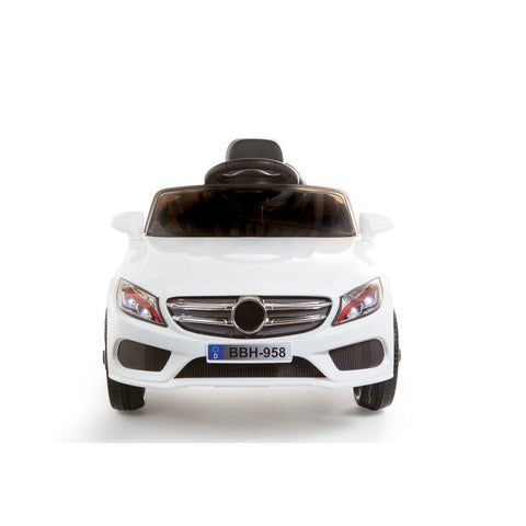 12V C Class Style Kids Ride On Car - White - EpicStuff