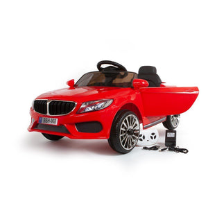 12V 3 Series Style Saloon Kids Ride On Car - Red - EpicStuff