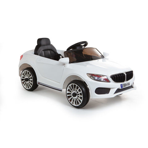 12V 3 Series Style Saloon Ride On Car - White - EpicStuff
