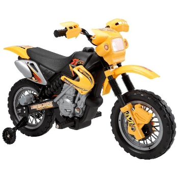 Kids Mini Motocross 6v Scrambler Battery Operated Electric Motorbike - Yellow - EpicStuff
