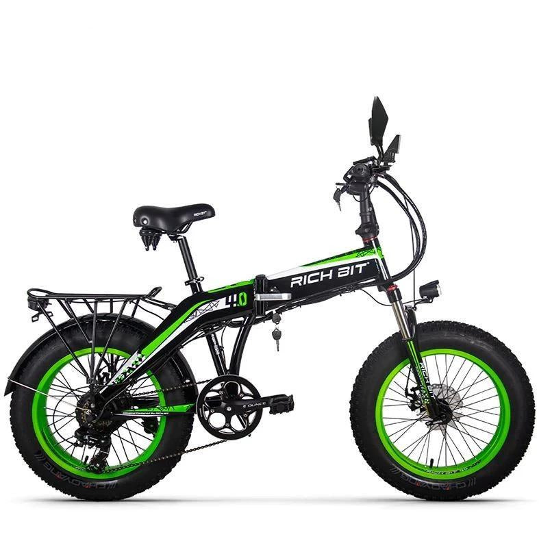 RICHBIT RT-016 500W 48V 20 inch Fat Tire Folding Electric Bike - Green - EpicStuff