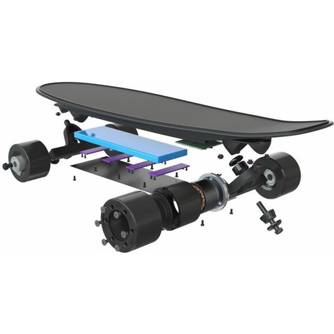 EB-1 HYPERBOARD - 350W ELECTRIC FISHTAIL SKATEBOARD - EpicStuff