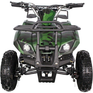 Kids Electric Mini Farm Quad Epicmoto 1000W  - Green Camo - EpicStuff