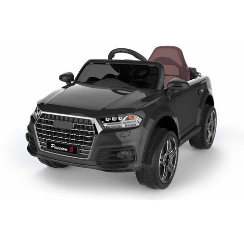 12V Battery Powered Q7 Style Kids Ride On Car - Black - EpicStuff