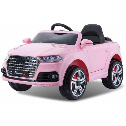 12V Battery Powered Q7 Style Kids Ride On Car - Pink - EpicStuff