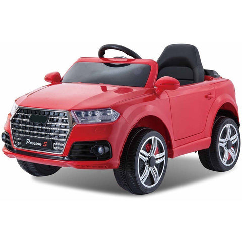 12V Battery Powered Q7 Style Kids Ride On Car - Red - EpicStuff