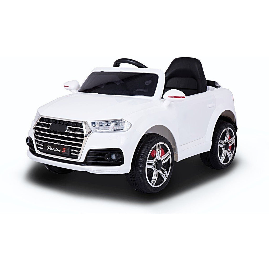 12V Battery Powered Q7 Style Ride On Car - White - EpicStuff