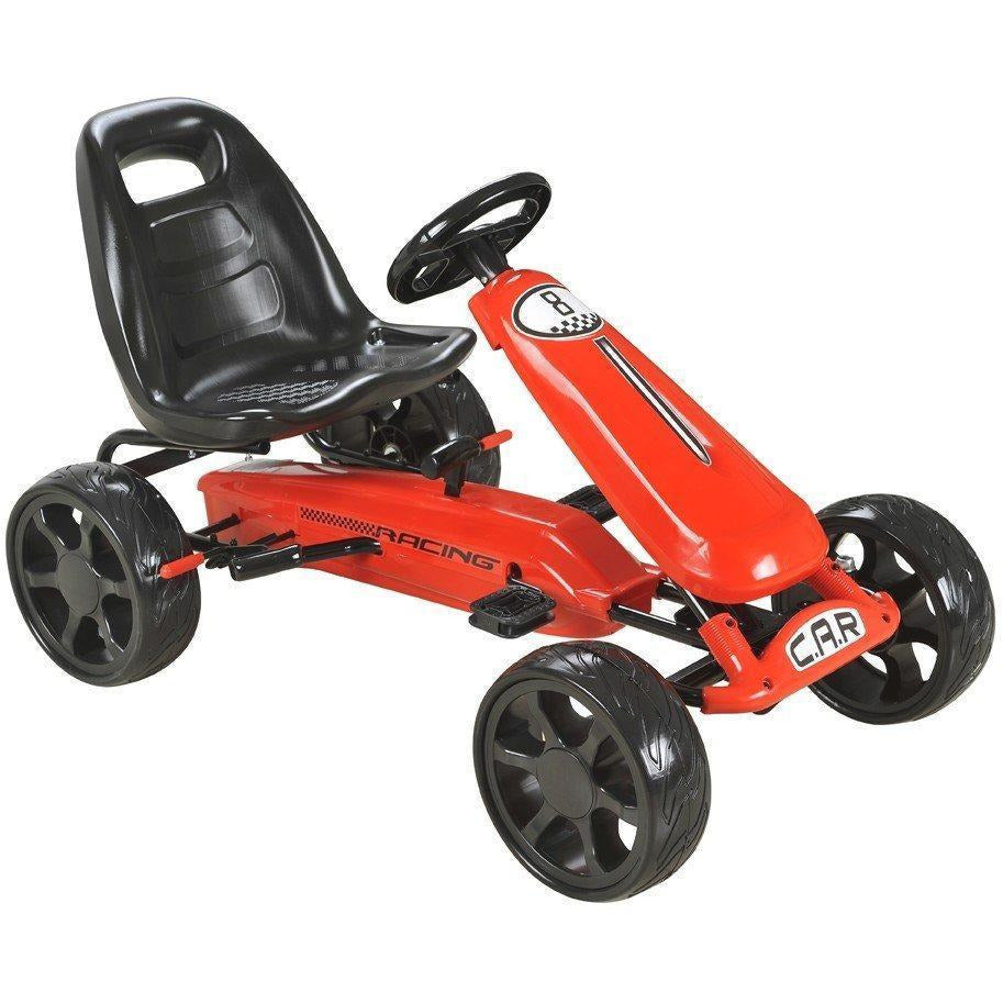 Pedal Sports Kart with EVA wheels - Red - EpicStuff