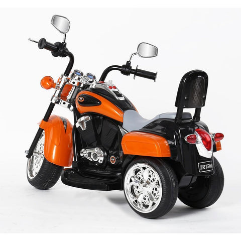 Kids 3 Wheel Chopper 6V Harley Style Electric Chopper - Orange - EpicStuff