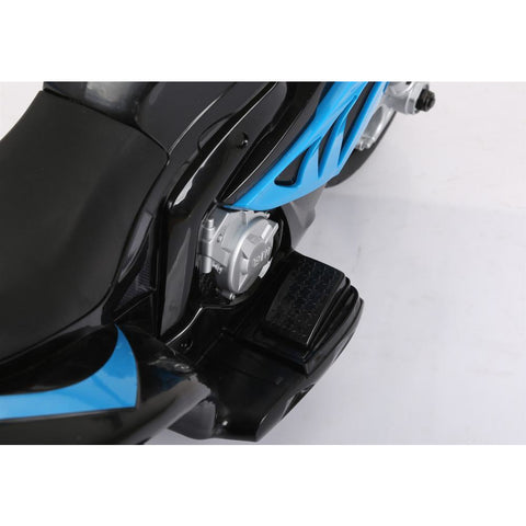 Licensed 6V 35W BMW Kids Electric Ride On Toy Motorcycle - Blue - EpicStuff