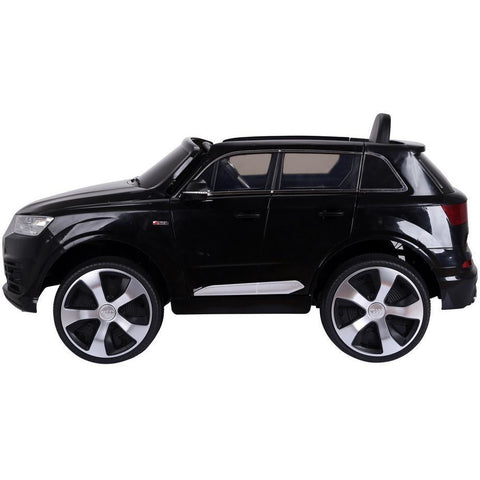 Licensed 12v Audi Q7 4x4 Kids Electric Ride On Car with Remote Control - Black - EpicStuff
