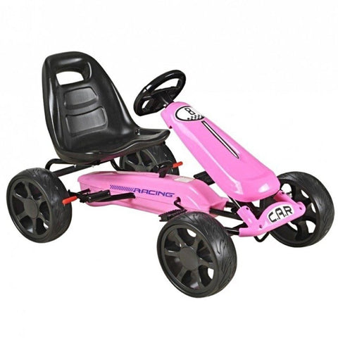 Pedal Sports Kart with EVA wheels - Pink - EpicStuff