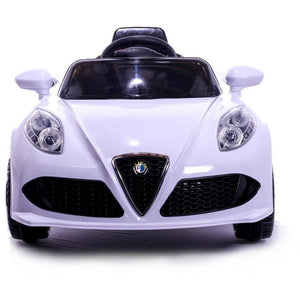 12V 4C Electric Roadster Ride On Car - White - EpicStuff