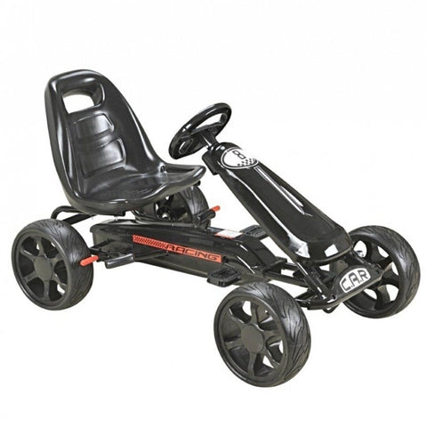 Pedal Sports Kart with EVA wheels - Black - EpicStuff