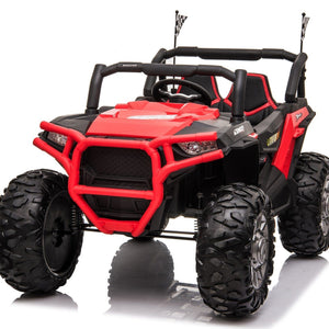 UTV MX PRO EDITION 4WD 24V* TWIN SEAT KIDS BUGGY - EVA - MP4 SCREEN - RED - EpicStuff