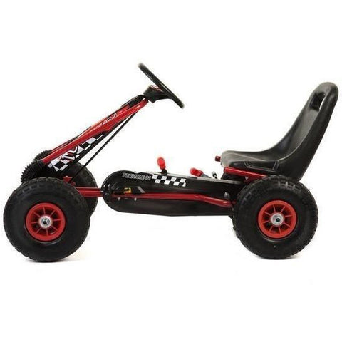 Kids Rubber wheel Go kart - Red/Black - EpicStuff