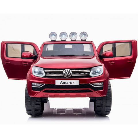 VW Amarok Licensed 4WD 24V Children's Battery Ride On Jeep - Red - EpicStuff