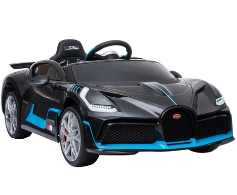 Licensed Bugatti Divo 12V Ride On Children's Battery Operated Car - Black - EpicStuff