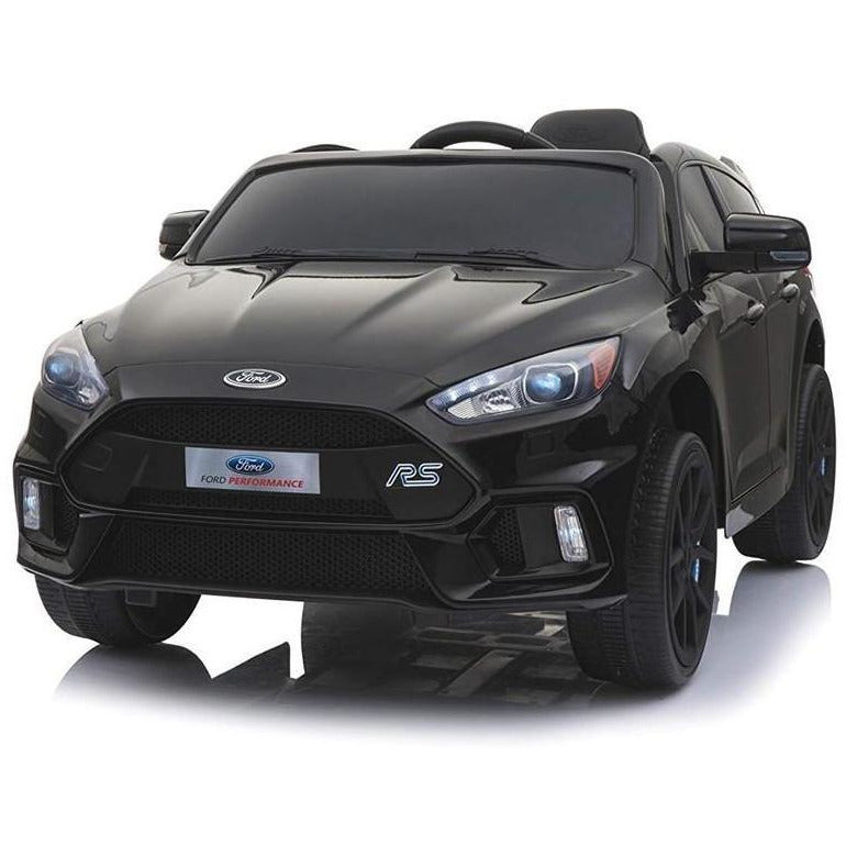 Licensed Ford Focus RS Ride on 12v Kids Car With Remote Control - Black - EpicStuff
